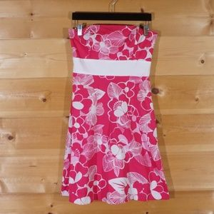 Alyn Paige Strapless Flower Dress